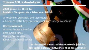 Megemlékezés Budaörsön Trianon 100. évfordulója alkalmából