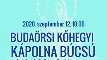 Szeptember 12-én lesz a Kőhegyi Kápolna búcsúünnepe Budaörsön