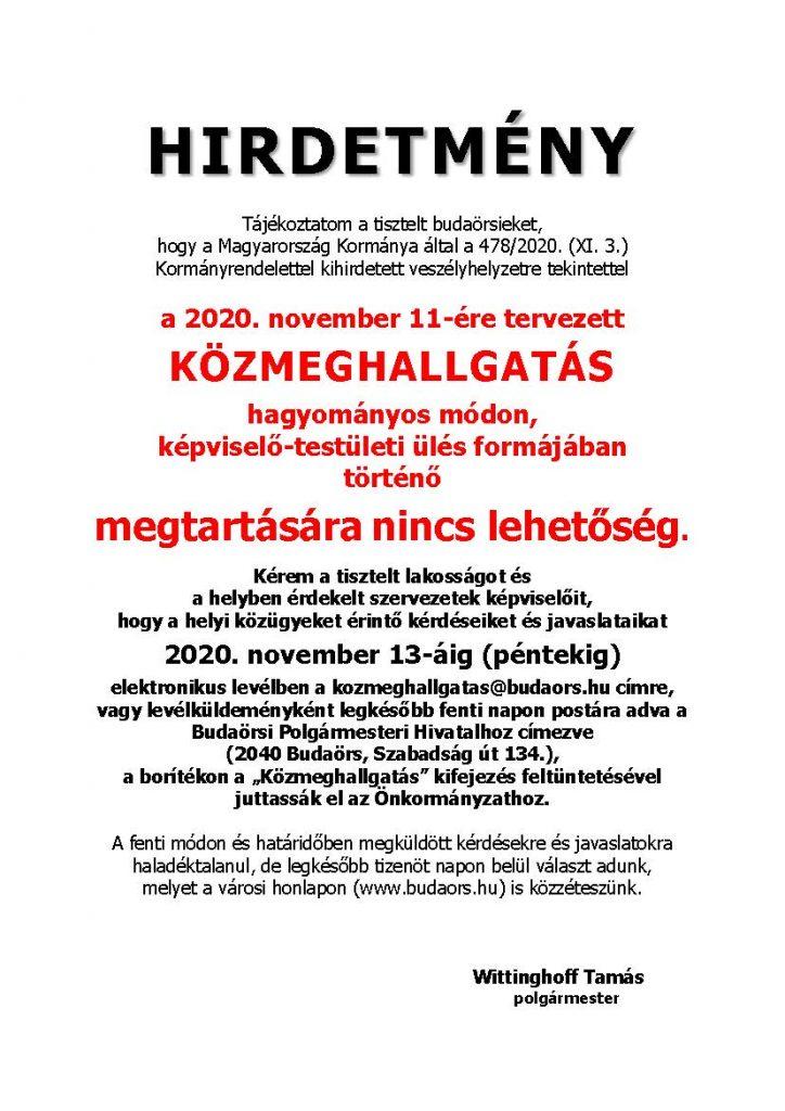 Idén elmarad a közmeghallgatás Budaörsön?!