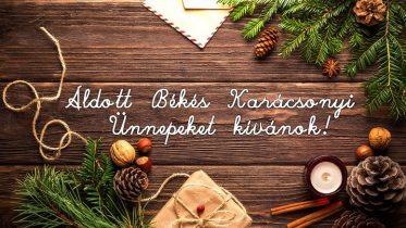 Áldott Békés Karácsonyi Ünnepeket kívánok!